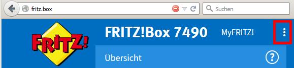 FritzBox-Expertenmodus