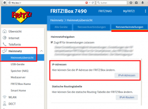 FritzBox-IP-Adresse