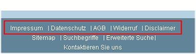 Magento – Einträge im Seitenfußbereich ändern (Impressum, AGB, …)