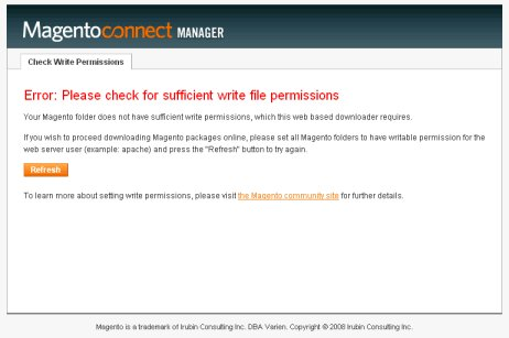 Magento – Please check for sufficient write file permissions