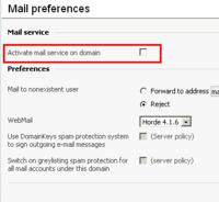 E-Mail Service ist explizit zu deaktivieren