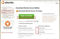 Firefox erlaubt einen optionalen Ubuntu Server Download