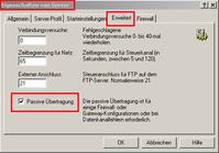 WS_FTP -Ordnerliste kann nicht aufgerufen werden
