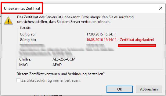 Mailserver Ssl Zertifikat
